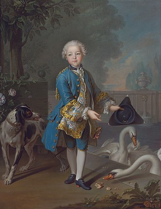 Louis Philippe II, Duke of Orléans - Portrait of a young Louis Philippe Joseph d'Orléans by Louis Tocqué.
