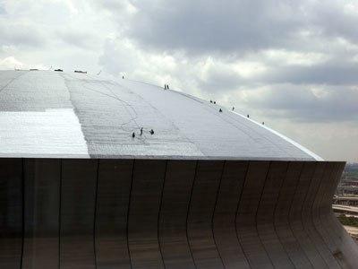 Louisiana Superdome damage repair