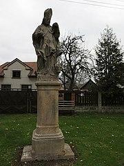 Sloup se sochou svatého Linharta