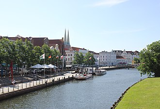 Lübeck - River Trave in Lübeck