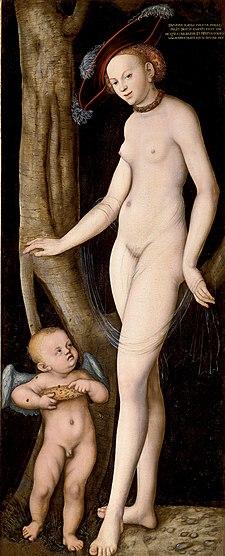 Lucas Cranach d.Ä. - Venus mit Cupid als Honigdieb (Galleria Borghese).jpg