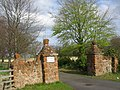 Luffness Mill House gateposts - geograph.org.uk - 922081.jpg