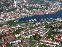 Luftbild Flensburg Schleswig-Holstein Zentrum Stadthafen Foto 2012 Wolfgang Pehlemann Steinberg-Ostsee IMG 6187.jpg
