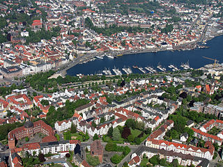 Flensburg Place in Schleswig-Holstein, Germany