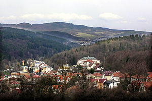 Luhačovice - View of the town