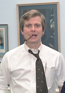 Lyn Nofziger Talking with Lee Atwater in Nofzigers Office in The White House (cropped).jpg