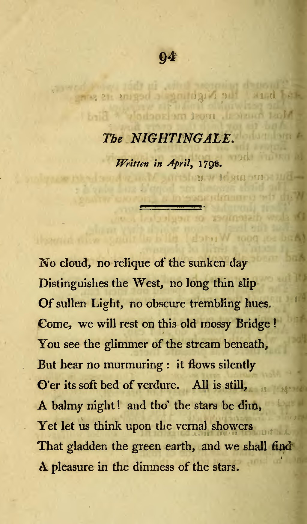 the nightingale wordsworth