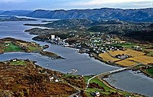 Lysøysundet - View of the village