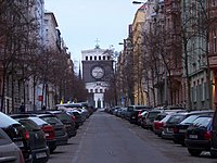 Mánesova, ke kostelu, od Třebízského.jpg