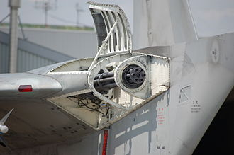 McDonnell Douglas F-15 Eagle - M61 Vulcan mounted on the side of right engine intake