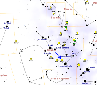 Messier 69 - Image: M69map