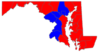 United States Senate election in Maryland, 2006 - Image: MD Sen 06Counties