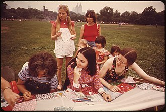 Quilt - A quilting bee in Central Park
