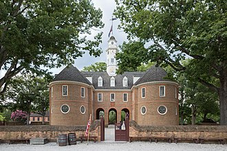 Virginia State Capitol - Reconstruction of the first Williamsburg capitol
