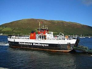 Lochranza - MV ''Loch Tarbert'' at Lochranza slipway
