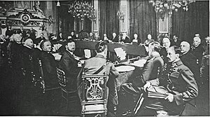 1916 in Italy - Prime Minister Antonio Salandra, Field Marshall Luigi Cadorna and ambassador Tommaso Tittoni at a conference of the Allied Powers on 27–28 March 1916 in Paris