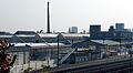 Maastricht, spoorweg en fabriekscomplex Mosa vanaf Viaductweg.jpg