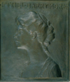 Mabel Conkling, Ethel Barrymore, bronze relief, ca. 1910.tif