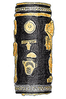 Drawing of the ceremonial mace handle with Hotepibre's name, from Ebla