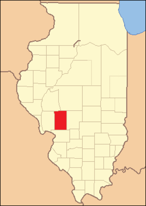 Macoupin County, Illinois - Macoupin County at the time of its creation in 1829
