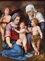Madonna col bambino, San Giovannino, S.elisabetta e un angelo by Andrea del Sarto.jpg