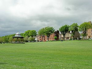 Magdalen Green and Bandstand, Located in the West End