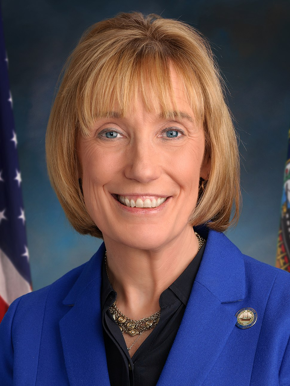 Maggie Hassan, official portrait, 115th Congress (cropped)