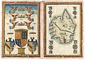Maggiolo Dedication leaf and Map of the island of Corsica.jpg