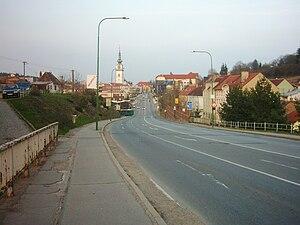 Třebíč - The expressway (I/23) in Třebíč