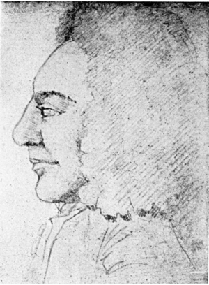 Magnus Bromelius - Magnus Bromelius, pencil drawing from Notes on the Swedish doctor, by L. Roberg
