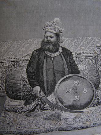 Singh - Maharaja Lakshmeshwar Singh of Raj Darbhanga in Bihar, published in Graphic Magazine, December 1888