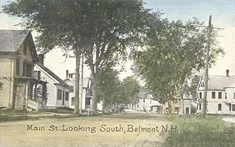 Belmont, New Hampshire - Main Street in 1908