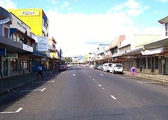 Lautoka - Lautoka's Central Business District area