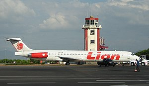 Lion Air - A Lion Air MD-82 at Sultan Hasanuddin International Airport