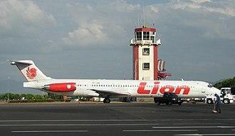 Lion Air - A Lion Air MD-82 at Sultan Hasanuddin International Airport