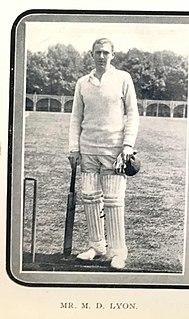 Dar Lyon English cricketer