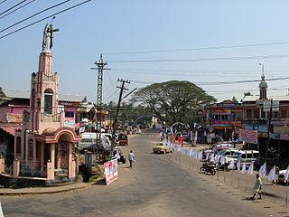 Mallapally Town in Kerala, India