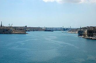 Grand Harbour - View of the Grand Harbour looking towards Marsa