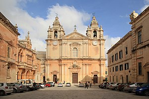 St. Paul's Cathedral, Mdina - View of St. Paul's Cathedral
