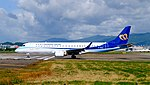 Mandarin Airlines Embraer 190 B-16822 Departing from Taipei Songshan Airport 20160731c.jpg