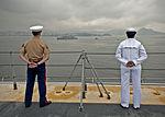 Manning the rails as USS America departs Rio De Janeiro 140809-N-FR671-086.jpg