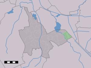 Zuidlaarderveen - Image: Map NL Tynaarlo Zuidlaarderveen