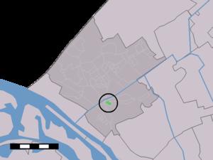 Westerlee, South Holland - Image: Map NL Westland Westerlee