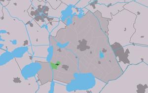 Idskenhuizen - Image: Map NL Skarsterlân Jiskenhuzen