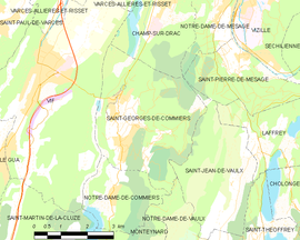 Mapa obce Saint-Georges-de-Commiers