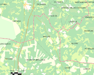 Map commune FR insee code 40169.png