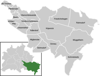 District map of Treptow-Köpenick