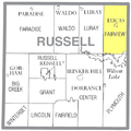 Map highlighting Fairview Township, Russell County, Kansas.png