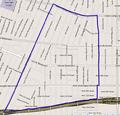 Map of Arlington Heights, Los Angeles, California.png