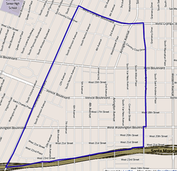 Boundaries of Arlington Heights as drawn by the Los Angeles Times